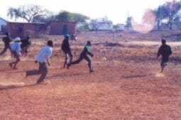 Soccer balls delivered to Botswana
