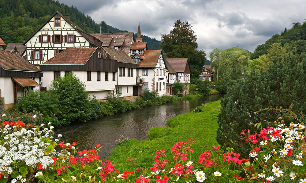 Schiltach Villiage in the Black Forest, Germany