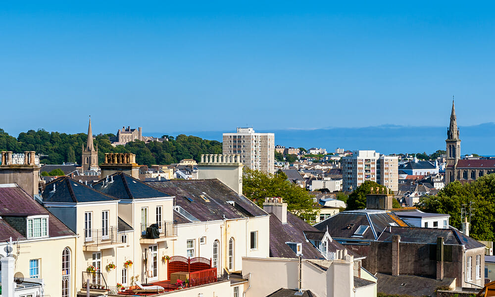 Skyline of Saint Helier, Jersey