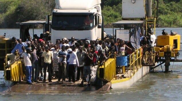 Kazungula Ferry across the Zambezi between Botswana and Zambia, December