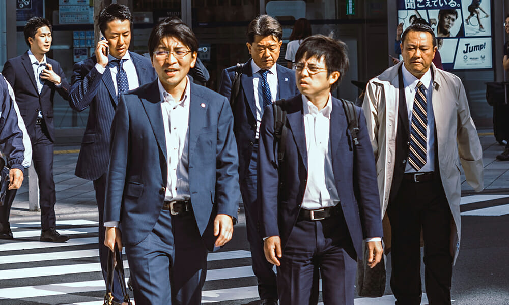 business attire Japan men