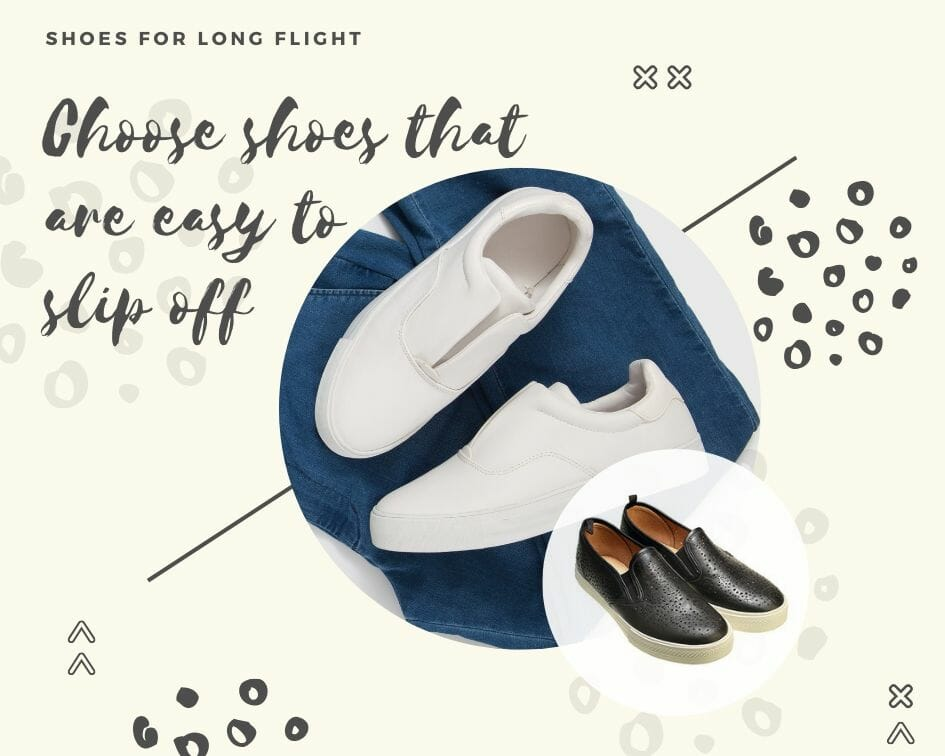 Shoes for a long haul flight
