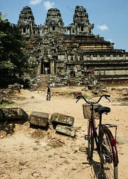 Exploring Angkor Wat by bike, Cambodia