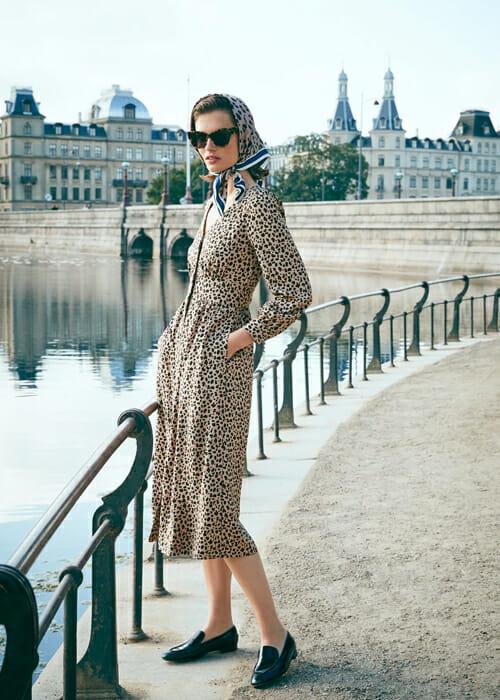 J Crew Copenhagen Leopard Print Dress