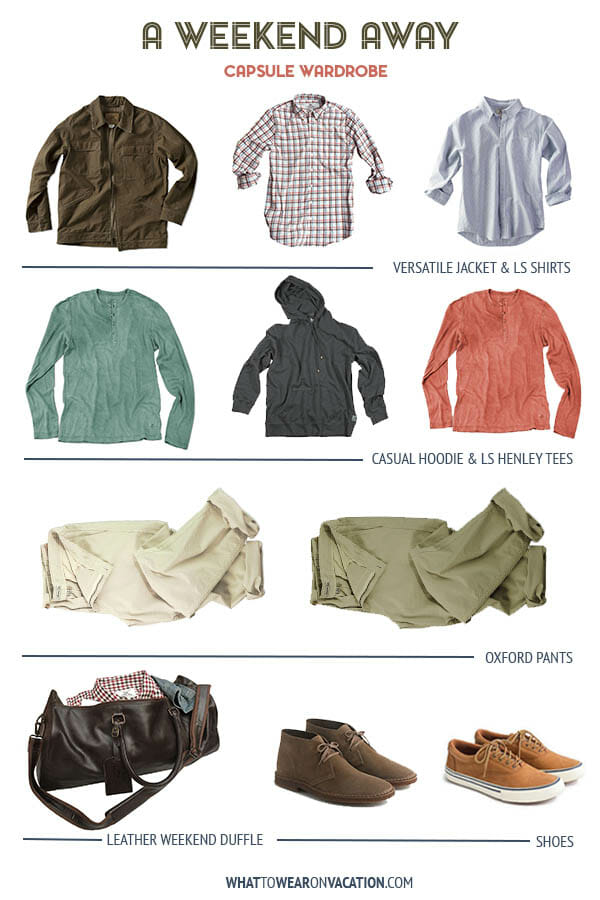 Men's Weekend Away Capsule Wardrobe