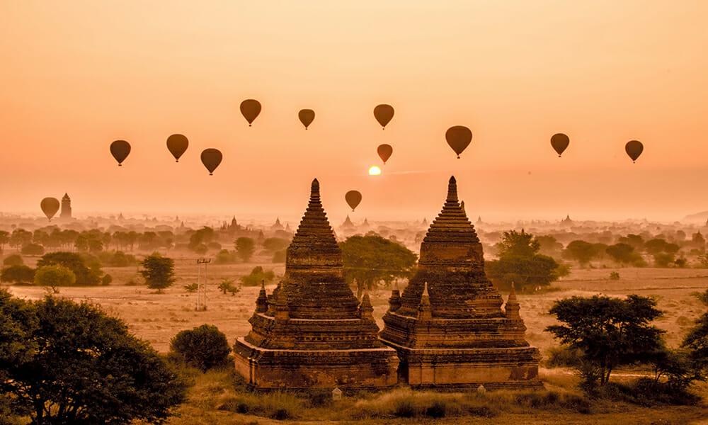 Sunrise in Bagan, Mayanmar