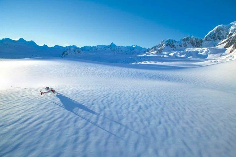 New Zealand scenic flights glaciers