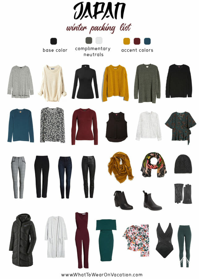 Japan winter packing list and capsule wardrobe