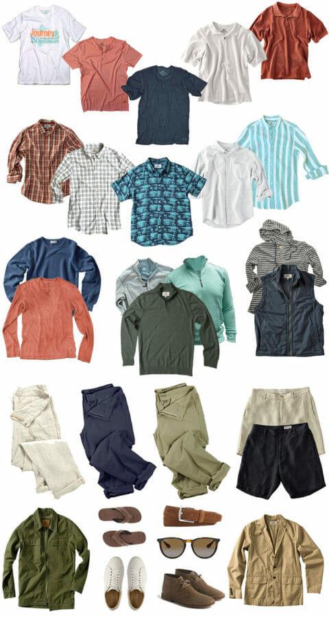 Mens versatile capsule wardrobe
