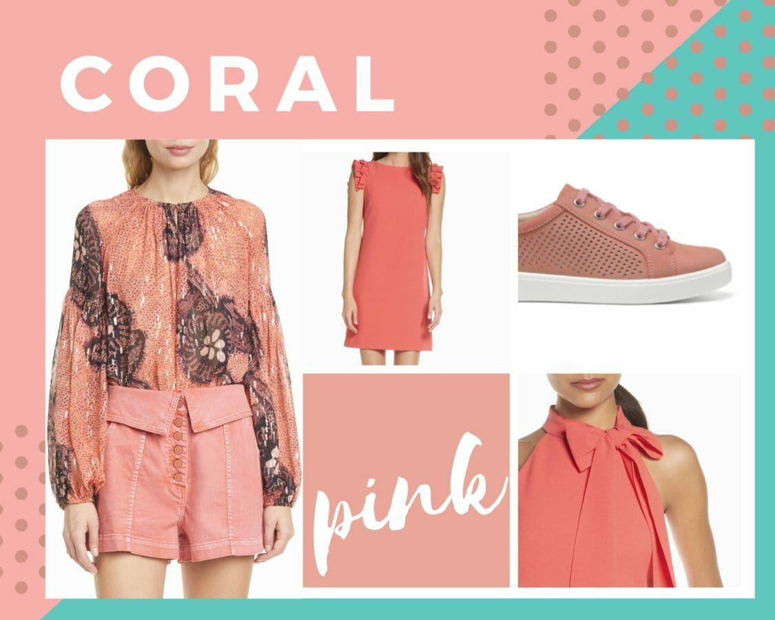coral pink color trends spring 2020