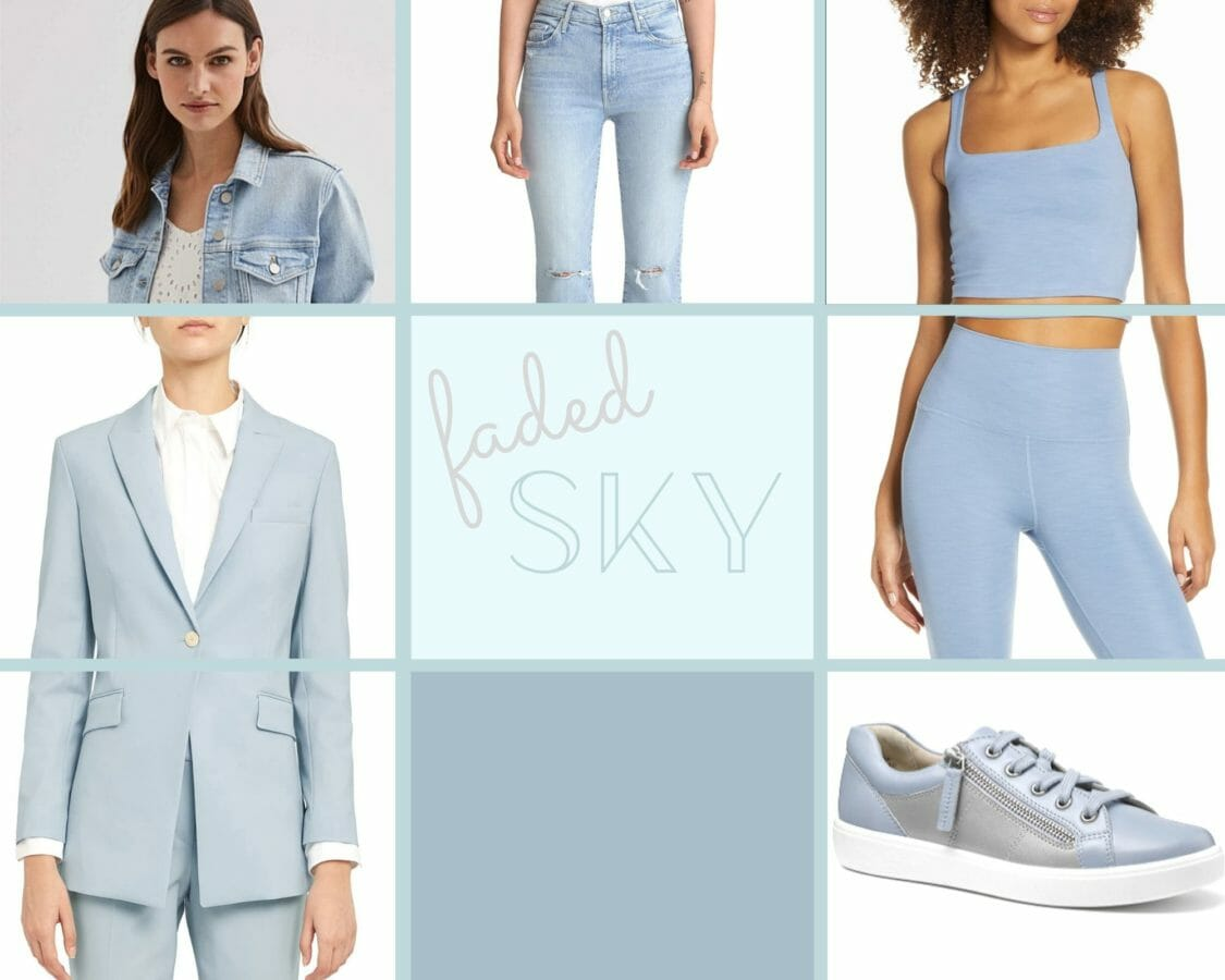 color trend 2020 faded sky blue