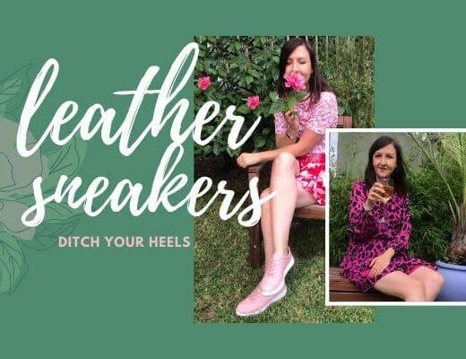 leather sneakers instead of heels