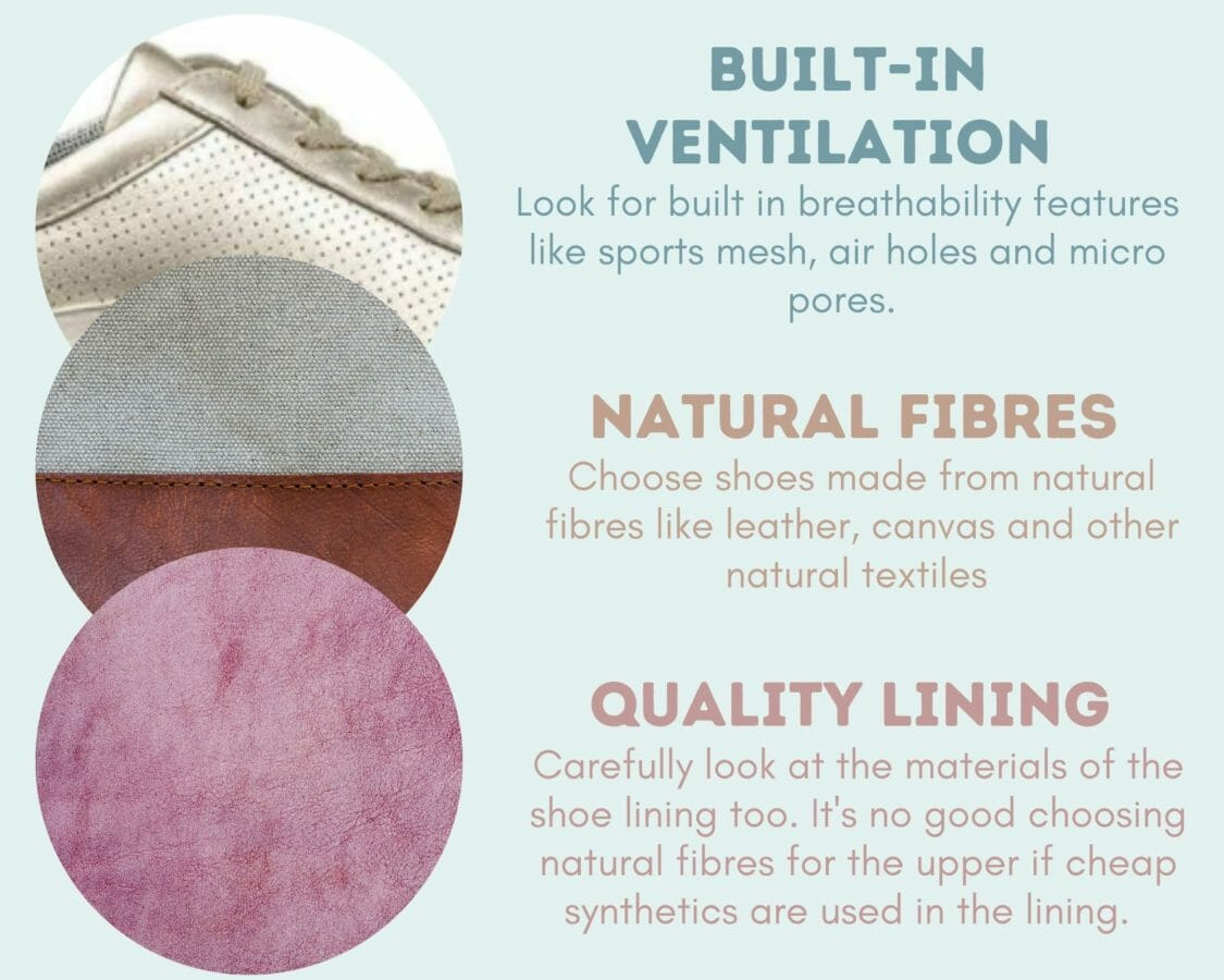 Choosing breathable shoe fabric