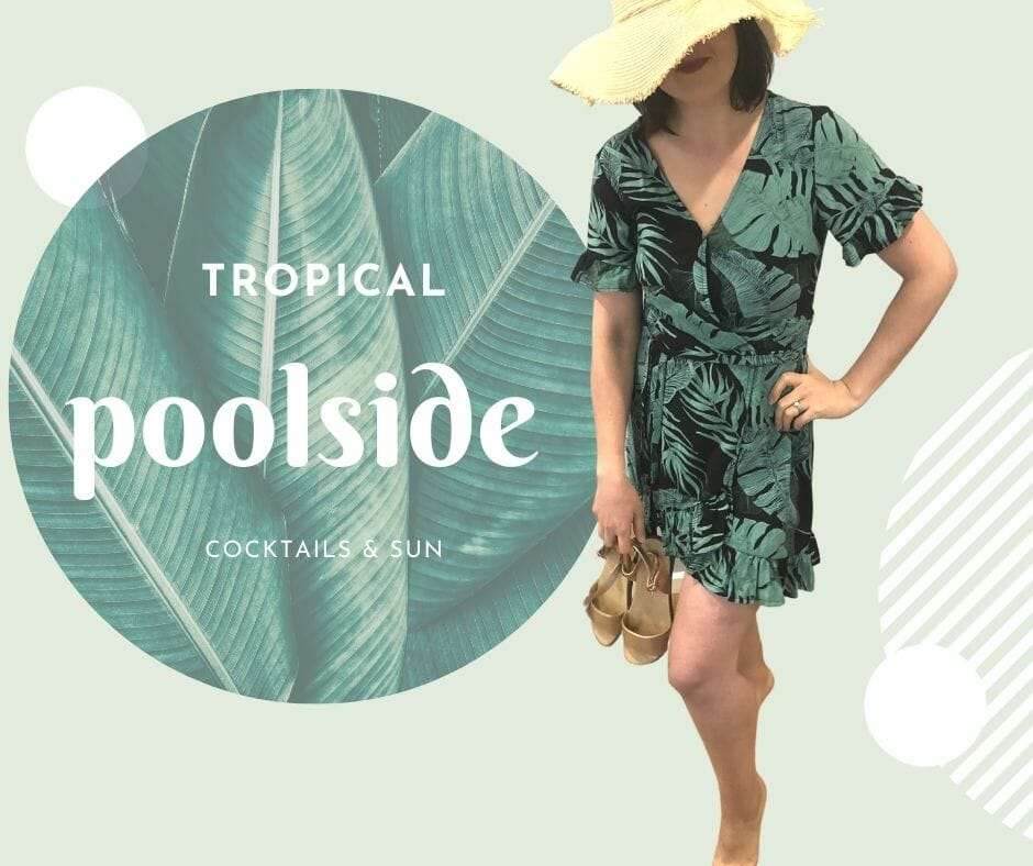 Tropical poo side outfit