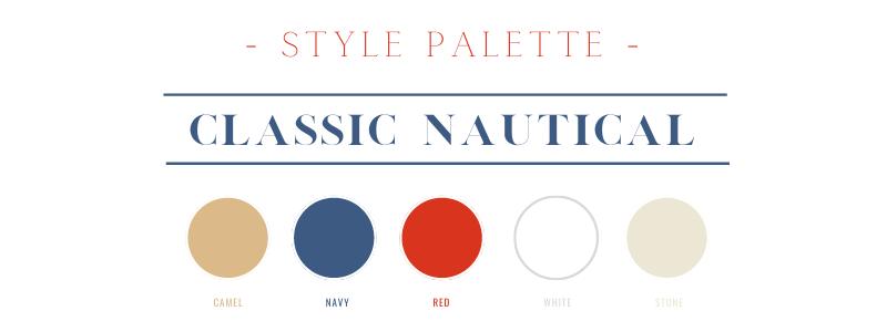 Classic Nautical style color palette