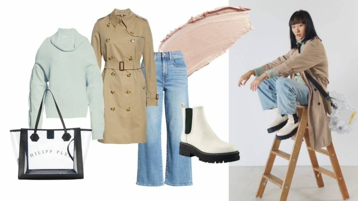 Casual trench style