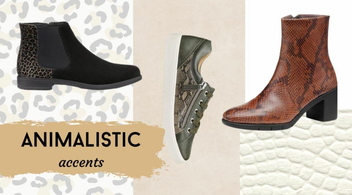 fall footwear trend animal print