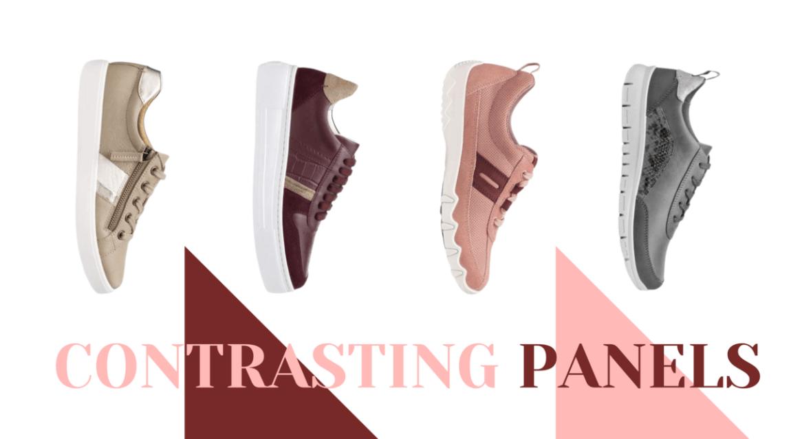 Sneaker trends 2021 contrasting panels