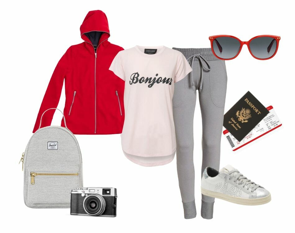 Travel outfit travel hoodie