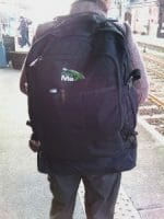 Backpack style - full of shopping on the journey home
