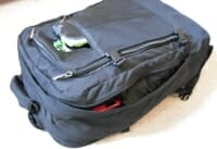 The packed backpack