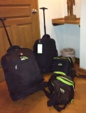 Luggage all packed, moving to our next location