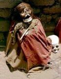 Mummy in Chauchilla cemetery