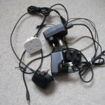 Multiple phone chargers and wires