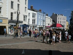 Tenby town in the day