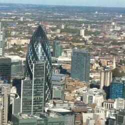 The 'Gherkin' - seen from The Shard