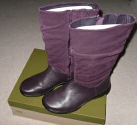 Mystery Boots in Plum