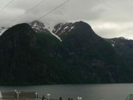 Clouds rolling in over the Fjords