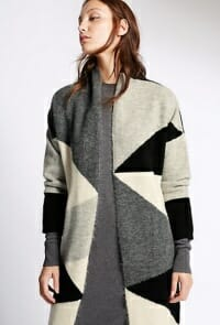 Colour Block Print Cardigan by Marks & Spencer