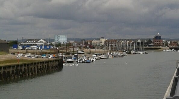 The River Arun, in Littlehampton