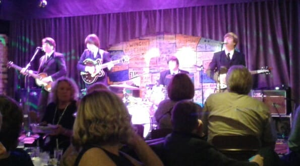 The Beatles tribute band in The Cavern Club