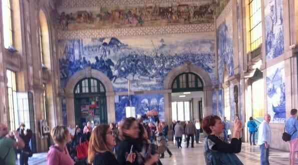 Stunning murals in São Bento Railway Station