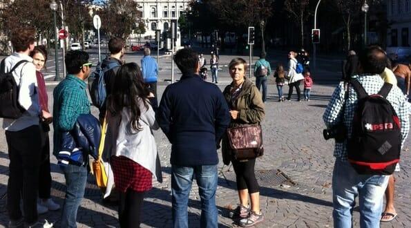 Walking tour - spot the flip-flop