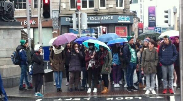 A rainy day in Dublin