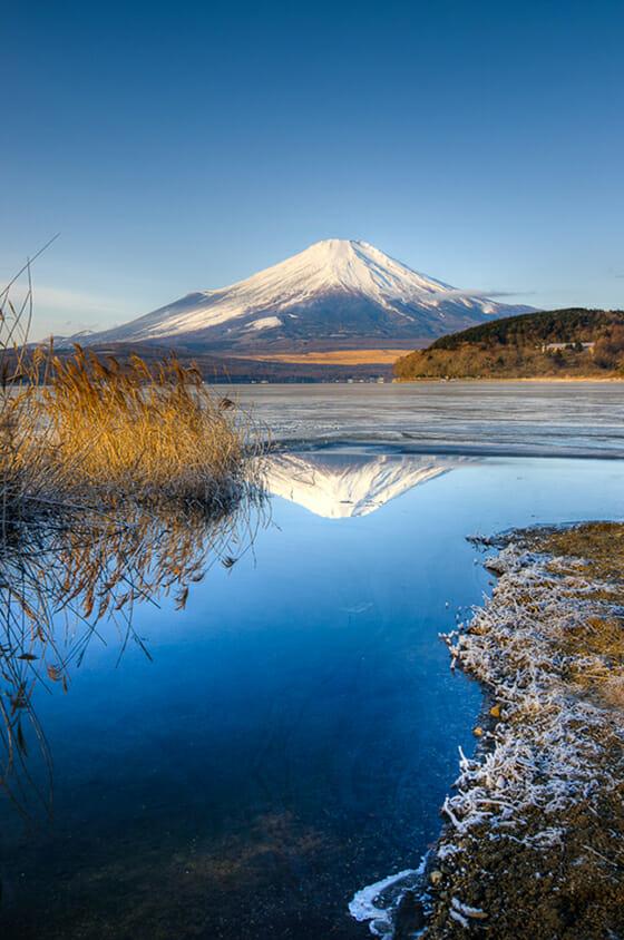 Mount Fuji, Japan, in winter.