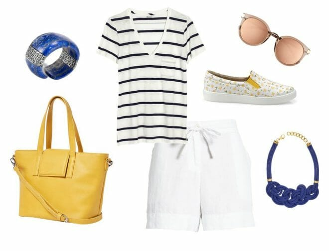Tara Daffodil Shoe Nautical look